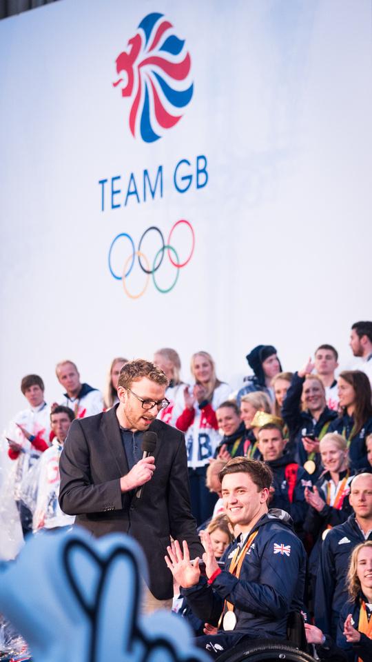 "Sport Olympics Heroes Parade Rio Manchester ""Team GB"""