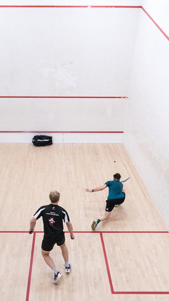 Squash racketlon york yorkshire England UK Luke Barnes Andrew Hopwood
